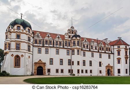 Stock Image of Celle Castle, Germany.