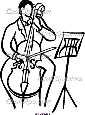 Cello Player Clipart.