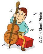 Cello player Vector Clipart Royalty Free. 149 Cello player clip.
