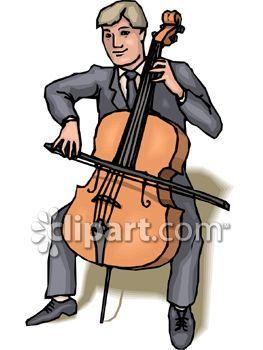Cellist Clipart.