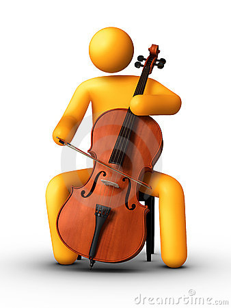 Cello Cartoon Clipart.