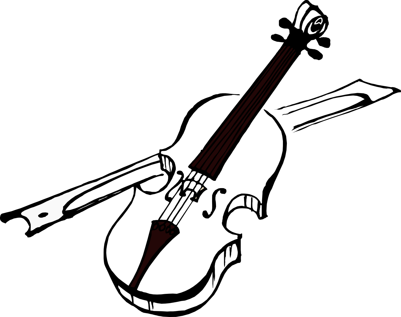 Cello Clipart Black And White.