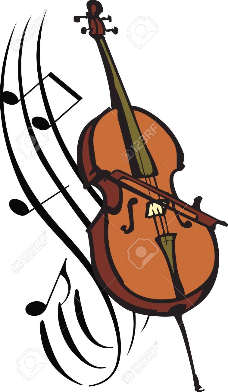 54 Cello free clipart.