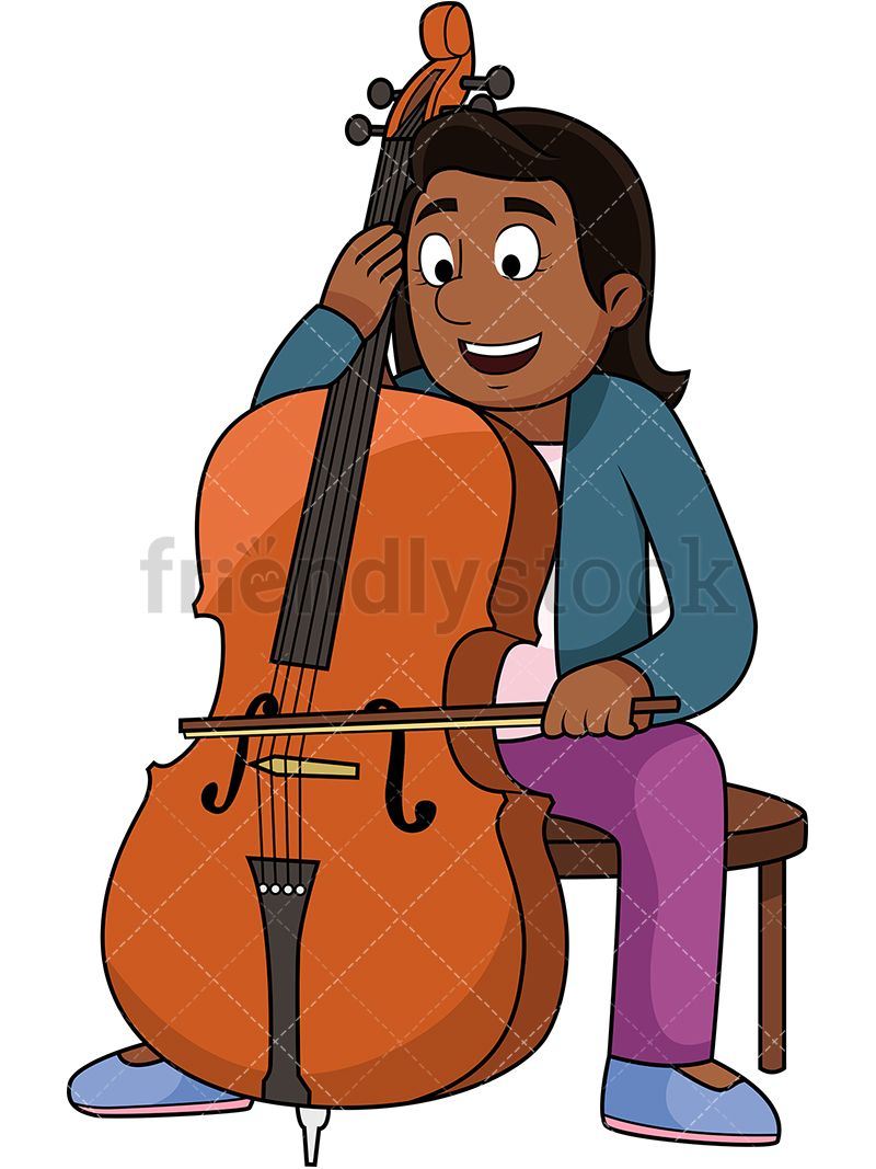Black Woman Playing The Cello.