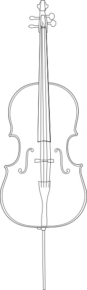 Cello clip art Free vector in Open office drawing svg ( .svg.