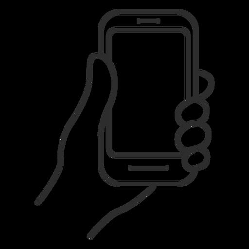 Handheld cellphone icon.