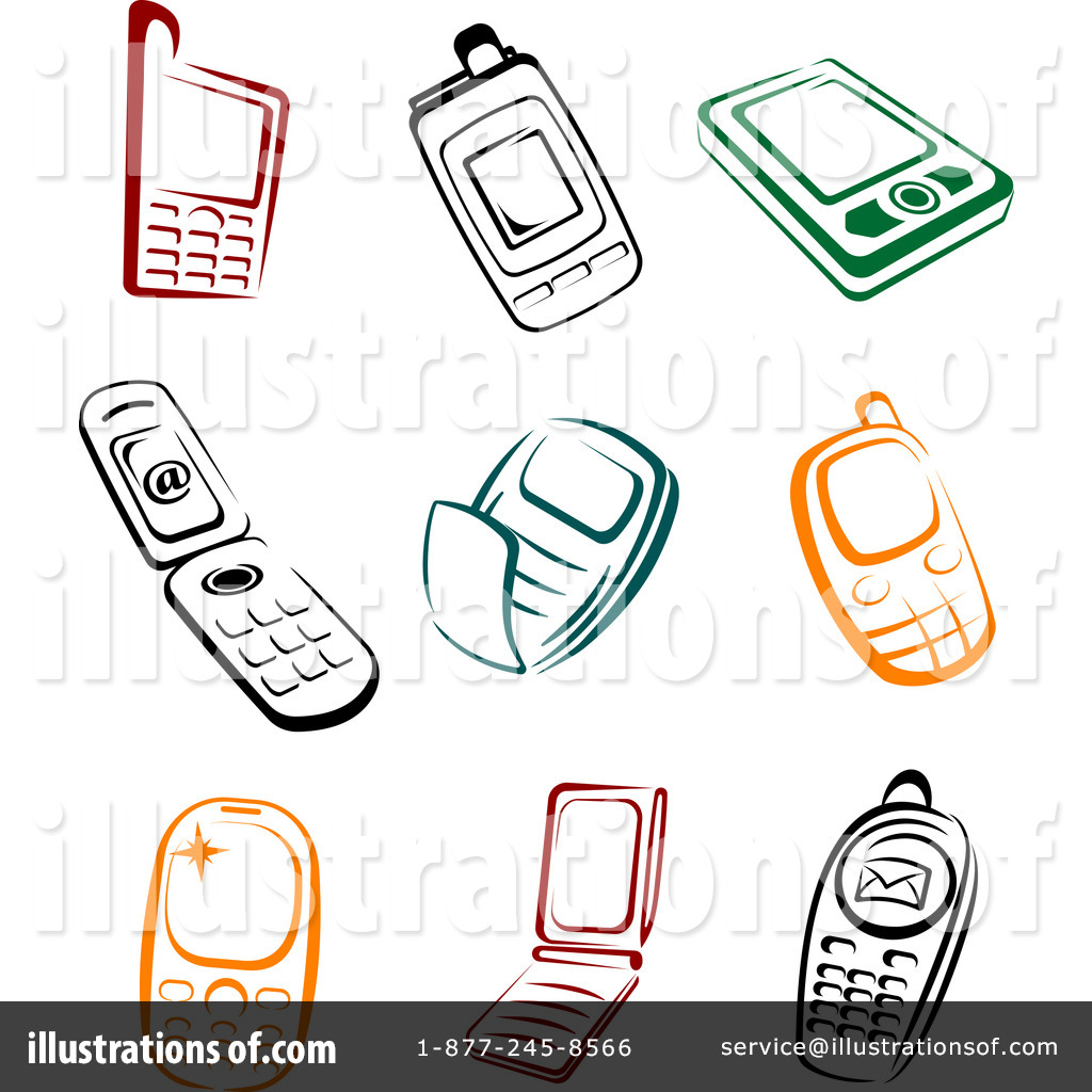 Cell Phones Clipart #1062252.