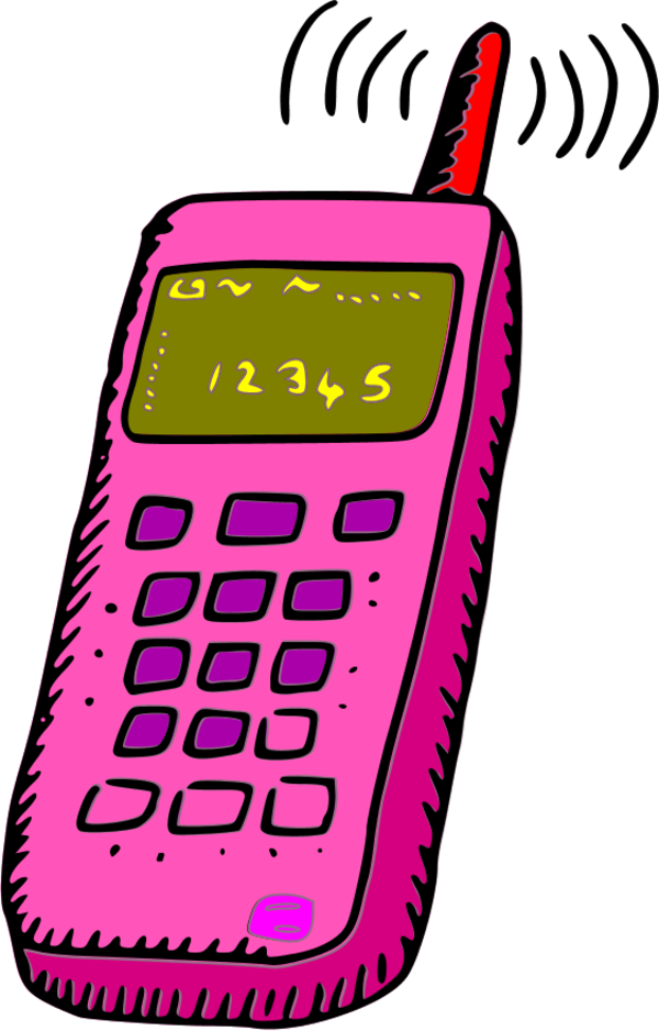 Cell Phones Clipart.