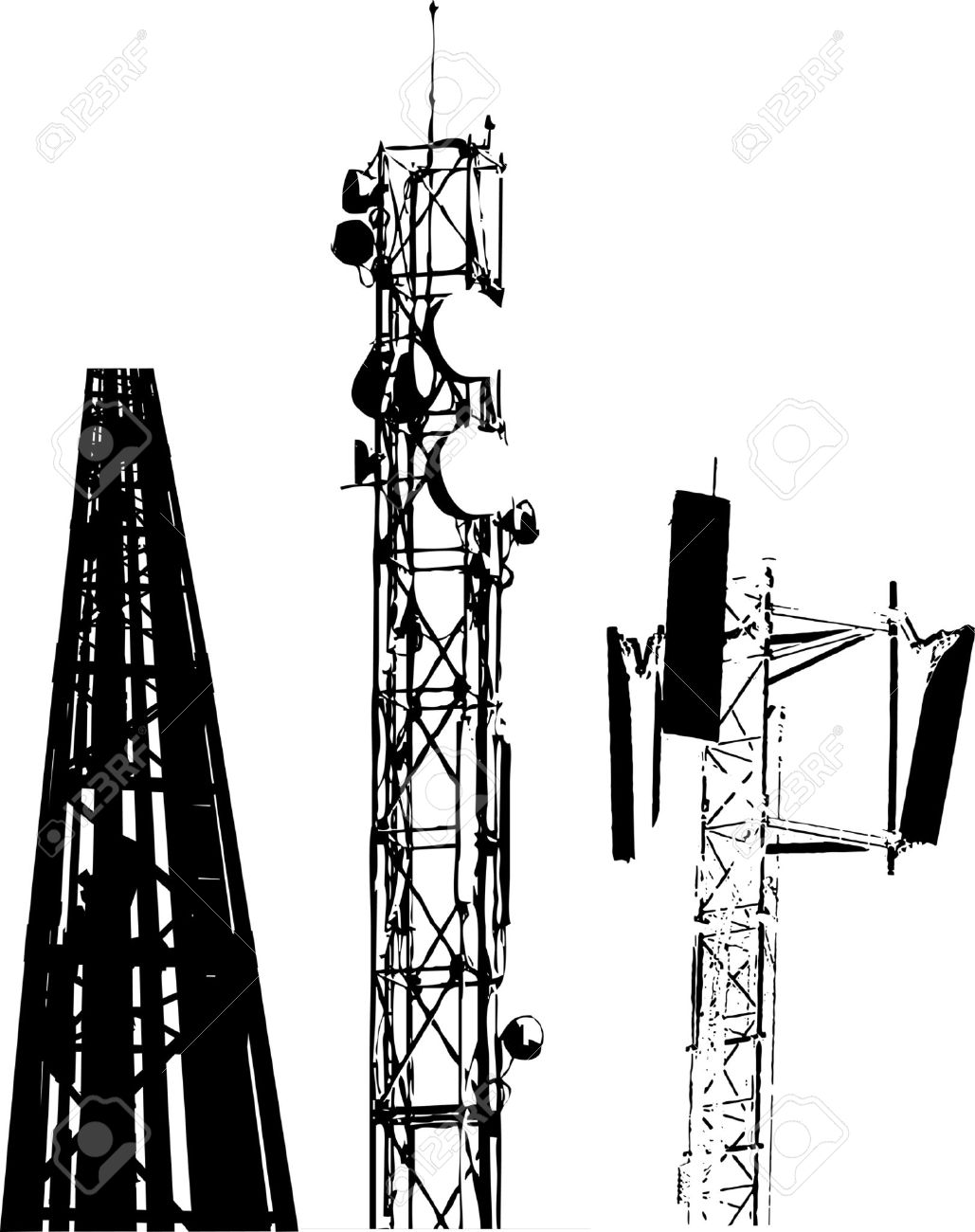 Communications tower clipart.