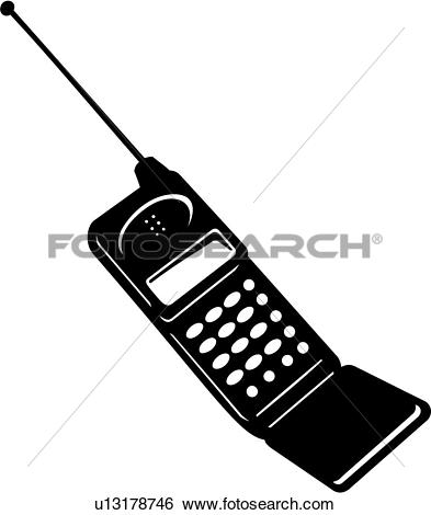 Clip Art of Cell Phone u13178746.