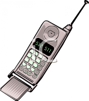 Image Of A Cell Phone In A Vector Clip Art Illutration.