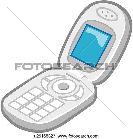 Clipart of telephone, mobile phone, cellular phone.