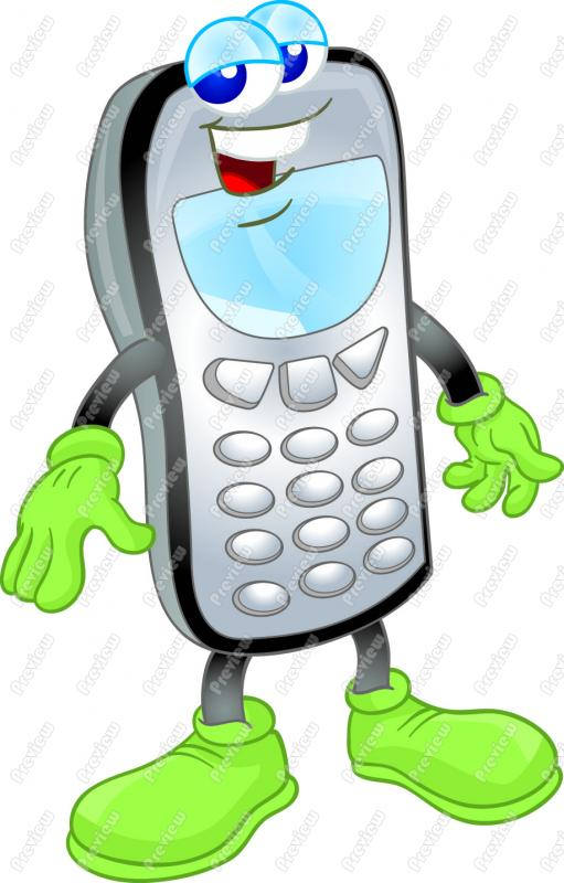 Person Using Cell Phone Clipart.