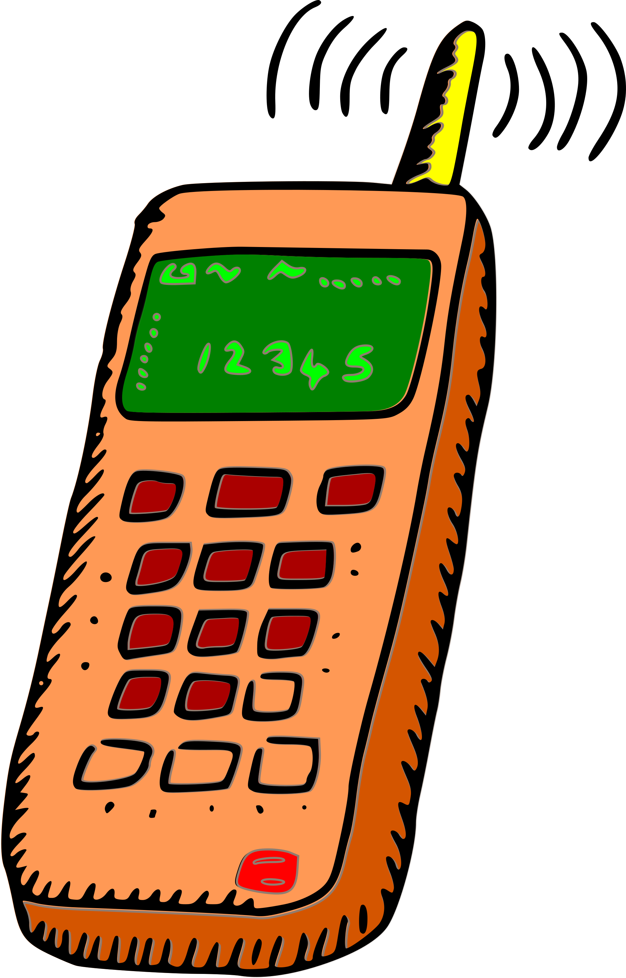 Old cell phone clipart.