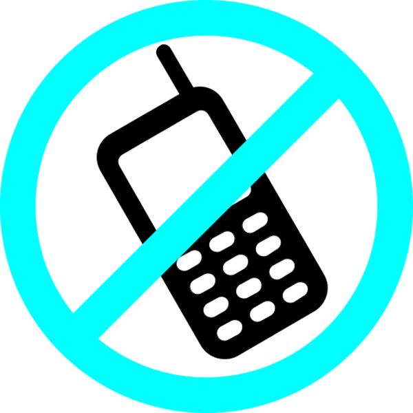 No cell phones clipart.