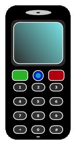 Mobile Phone Clip Art at Clker.com.