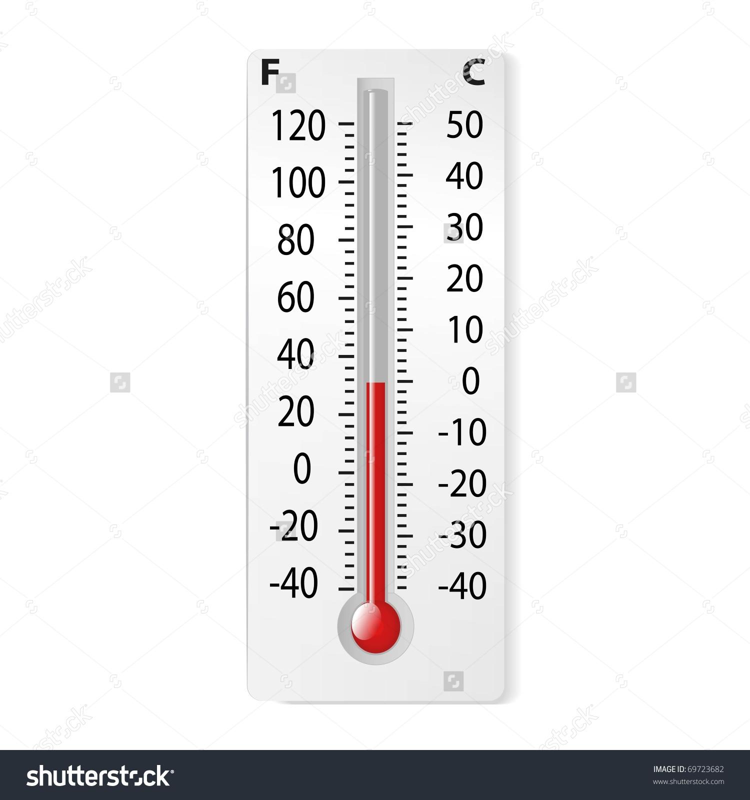 Celsius to Fahrenheit Clip Art.