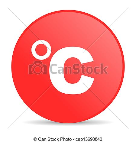 Drawing of celsius red circle web glossy icon csp13690840.