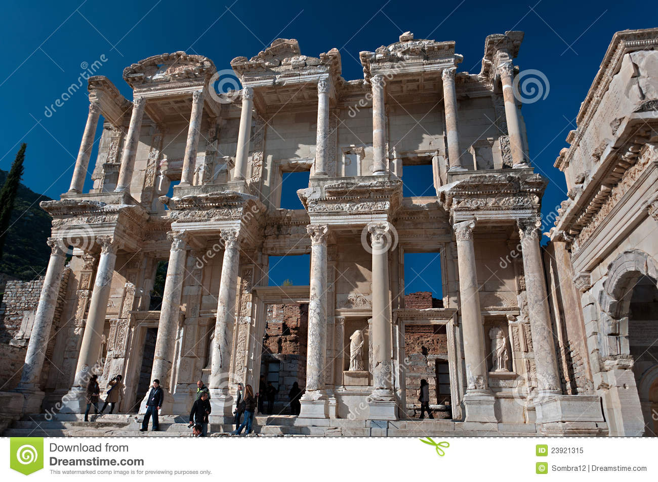 Library Of Celsus At Ephesus, Turkey Editorial Image.