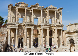 Stock Photos of Library of Celsus in Ephesus, Turkey csp16436737.