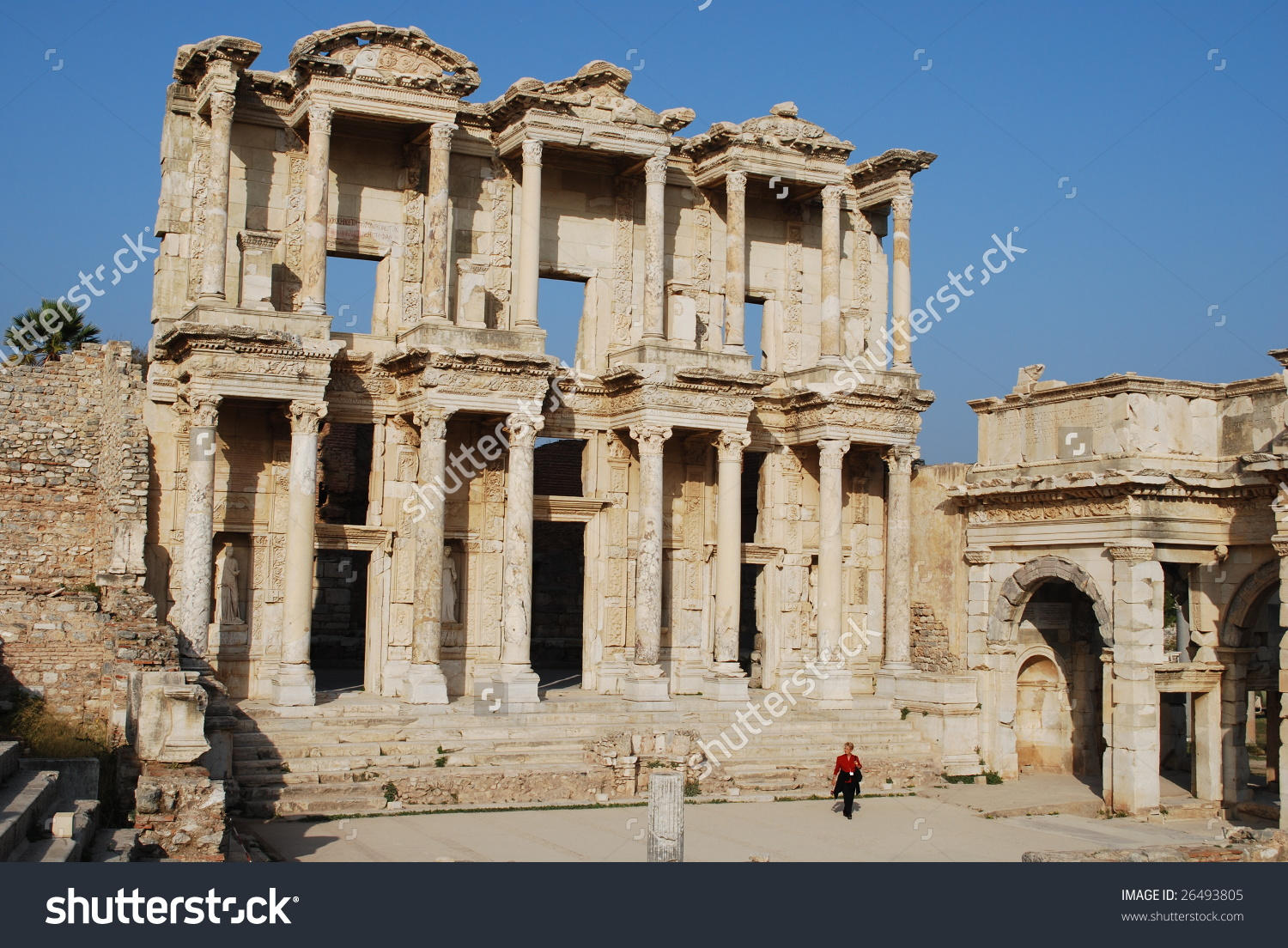Library Of Celsus, Ephesus, Turkey. Built For Roman Consul.
