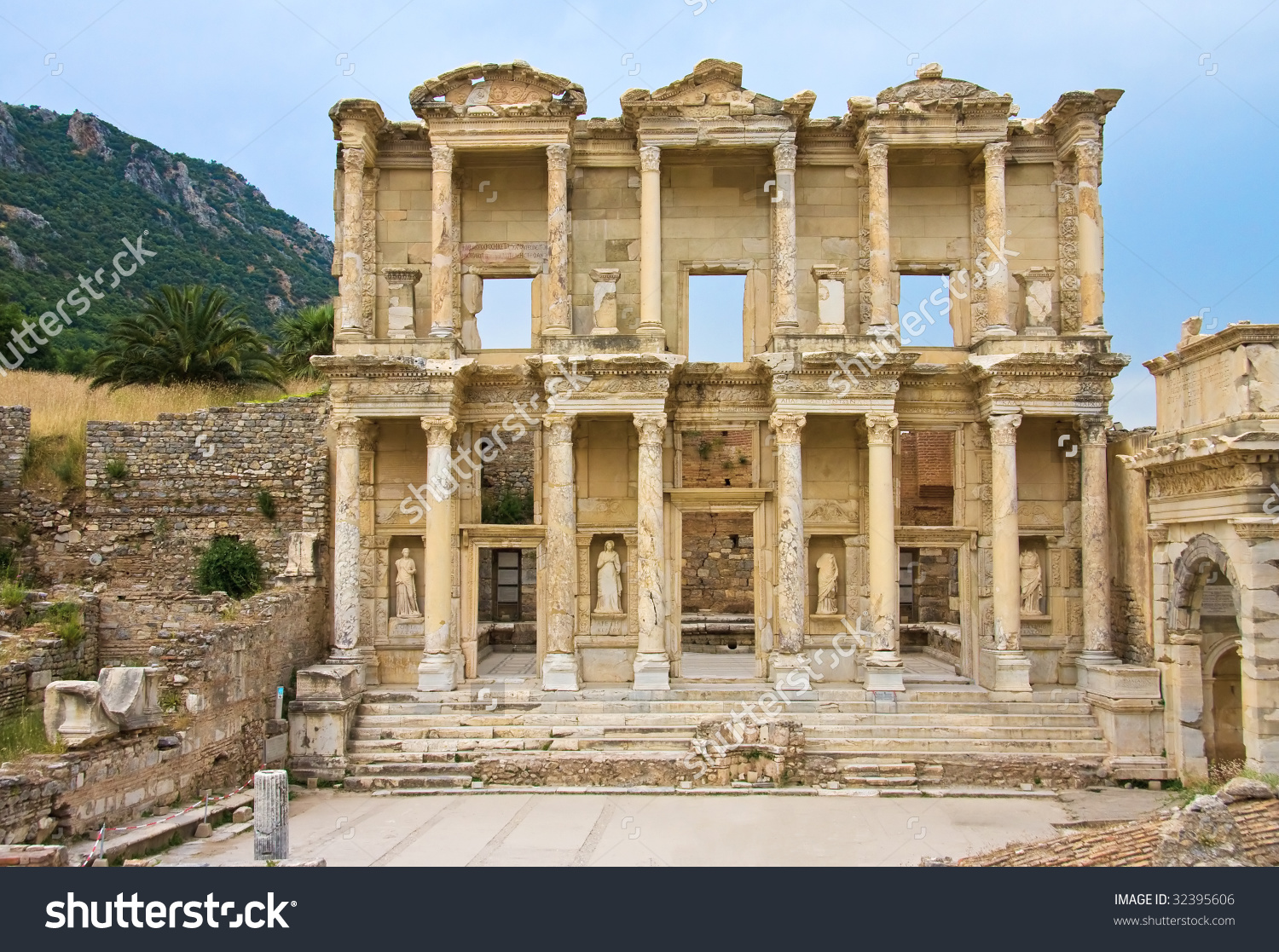 Facade Library Celsus Ephesus Turkey Stock Photo 32395606.