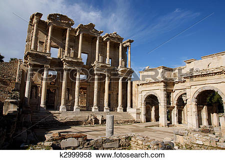 Pictures of The Celsus Library in Ephesus k2999958.