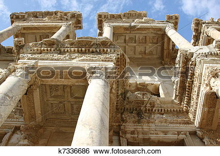 Stock Images of Ephesus Library of Celsus k7336686.