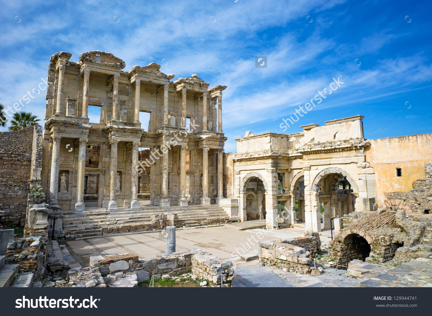 Library Celsus Ephesus Ancient City Unesco Stock Photo 129944741.