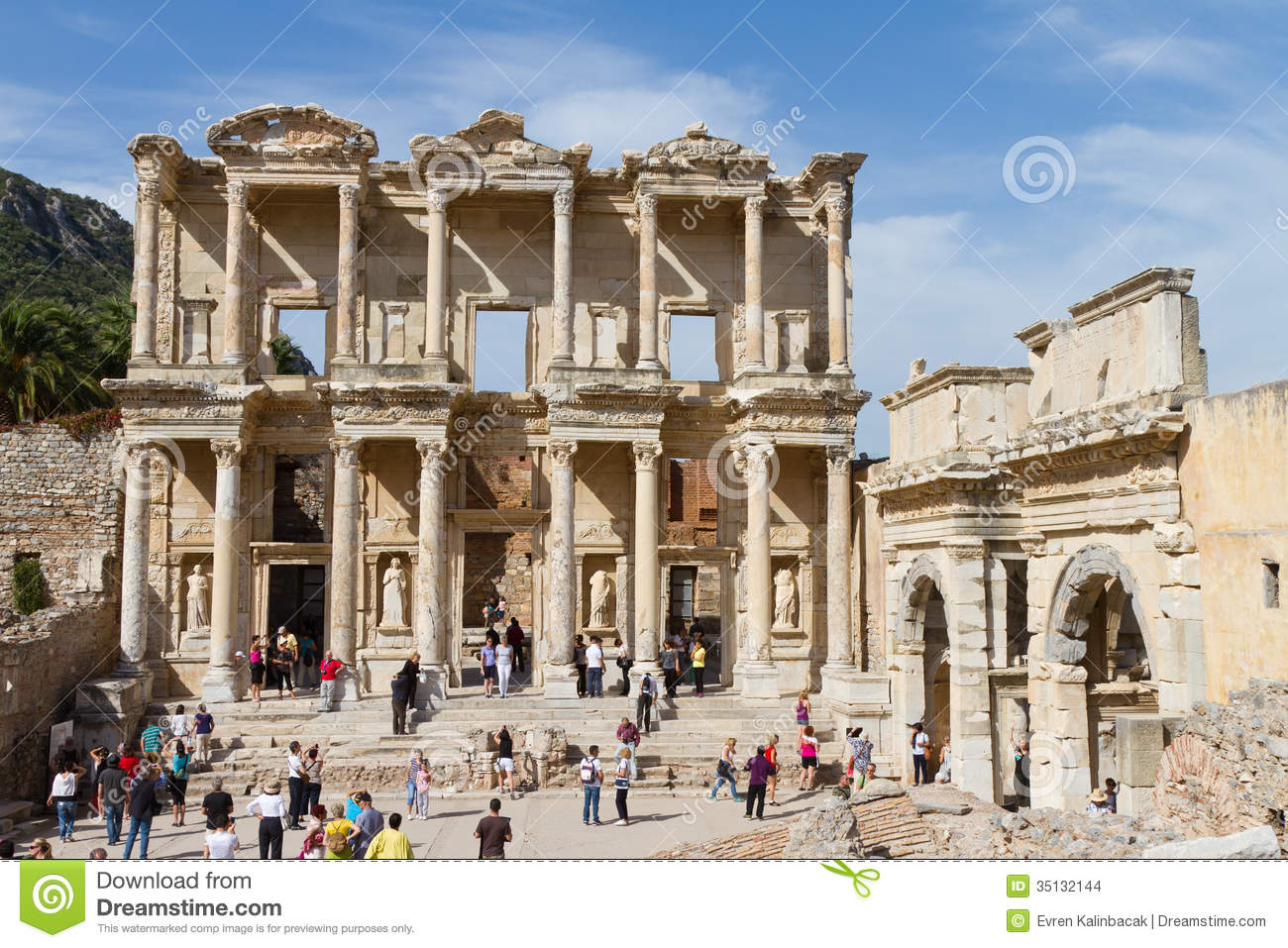 Library Of Celsus Editorial Stock Image.