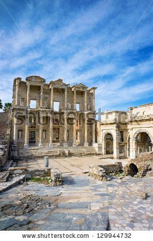 Library Celsus Ephesus Ancient City Unesco Stock Photo 129944741.