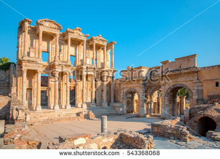 Library Of Celsus Stock Photos, Royalty.