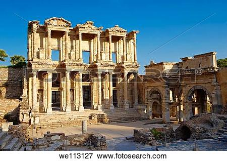 Picture of The library of Celsus Images of the Roman ruins of.