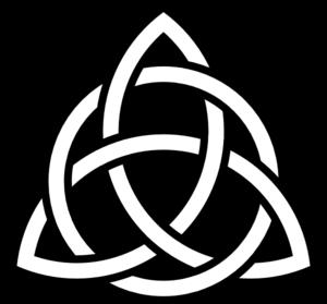 Simple Celtic Cross Clip Art.