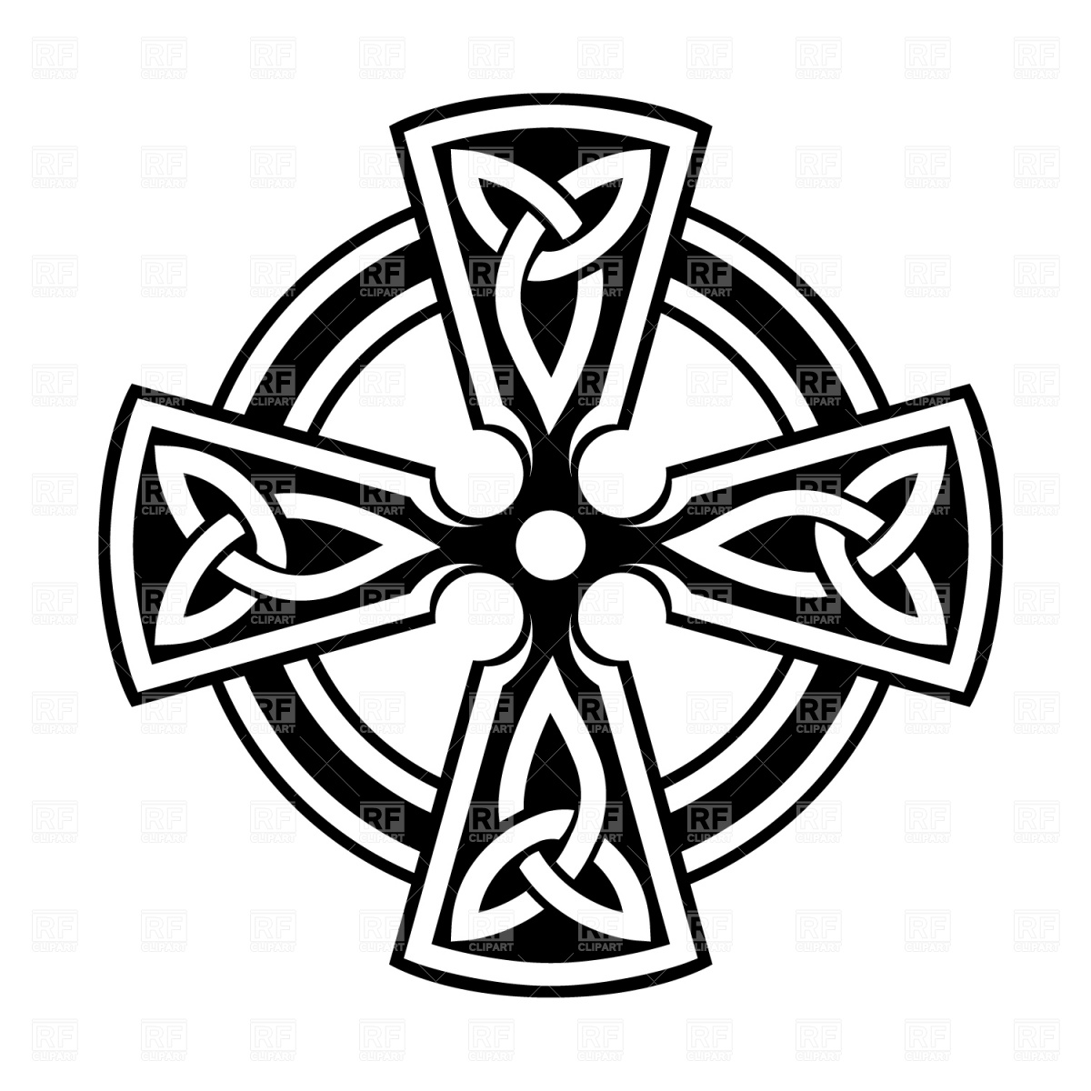 255 Celtic Cross free clipart.