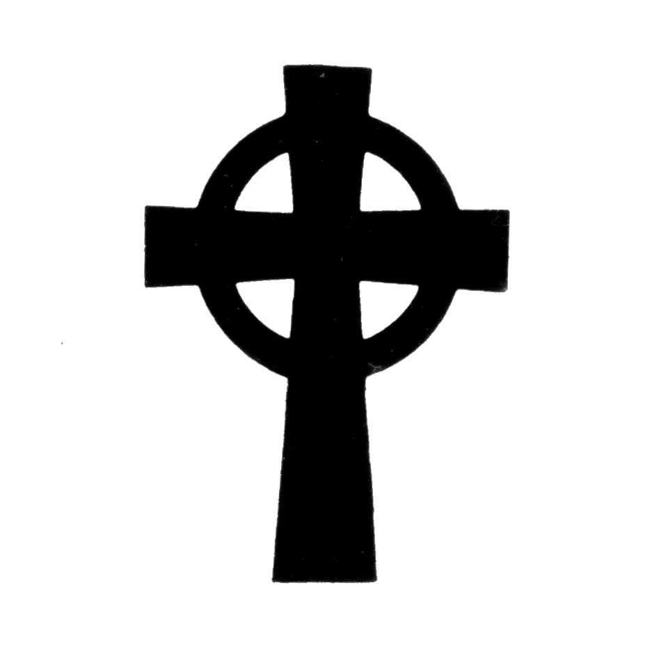 Simple Celtic Cross Clip Art.