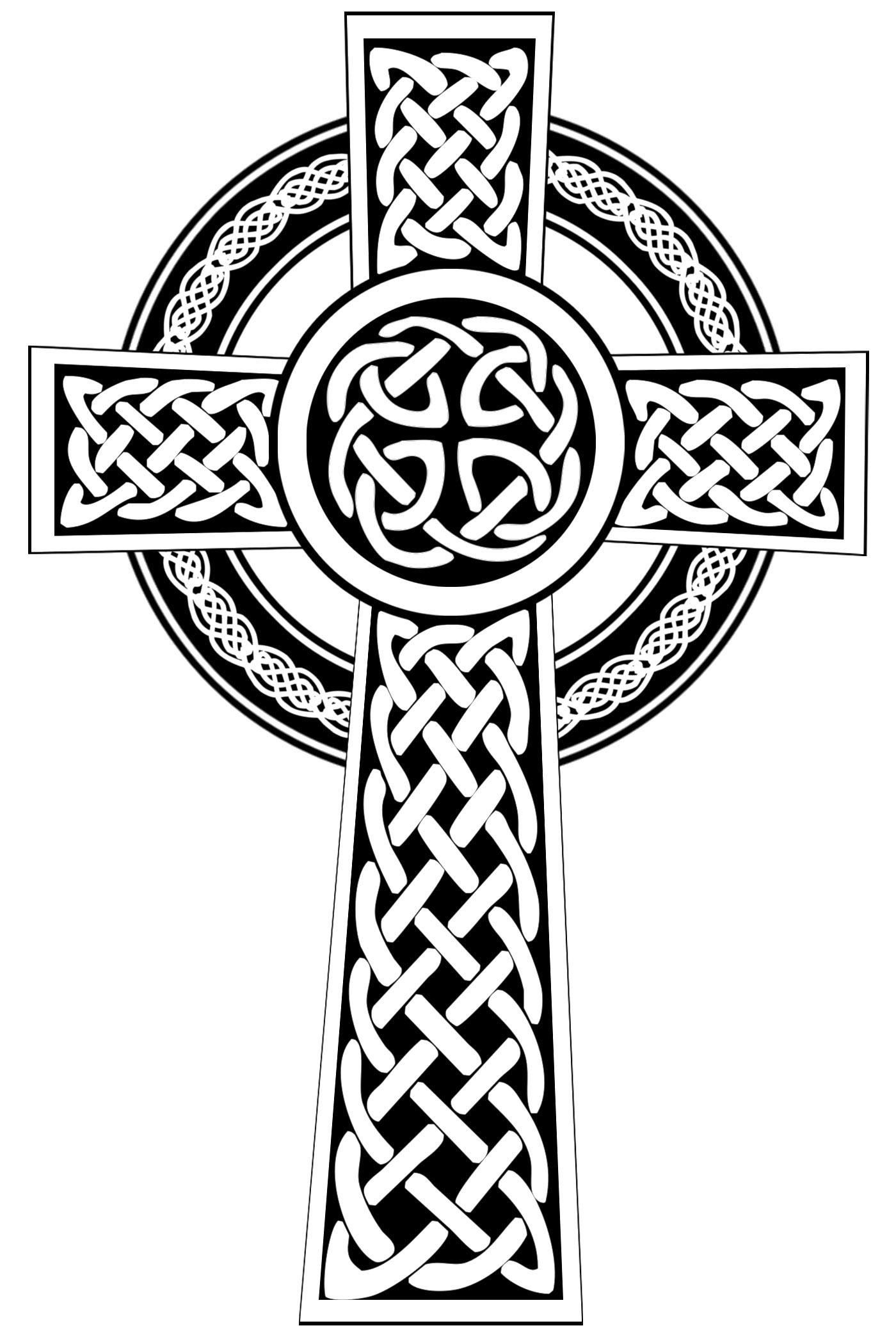 Celtic cross clip art.
