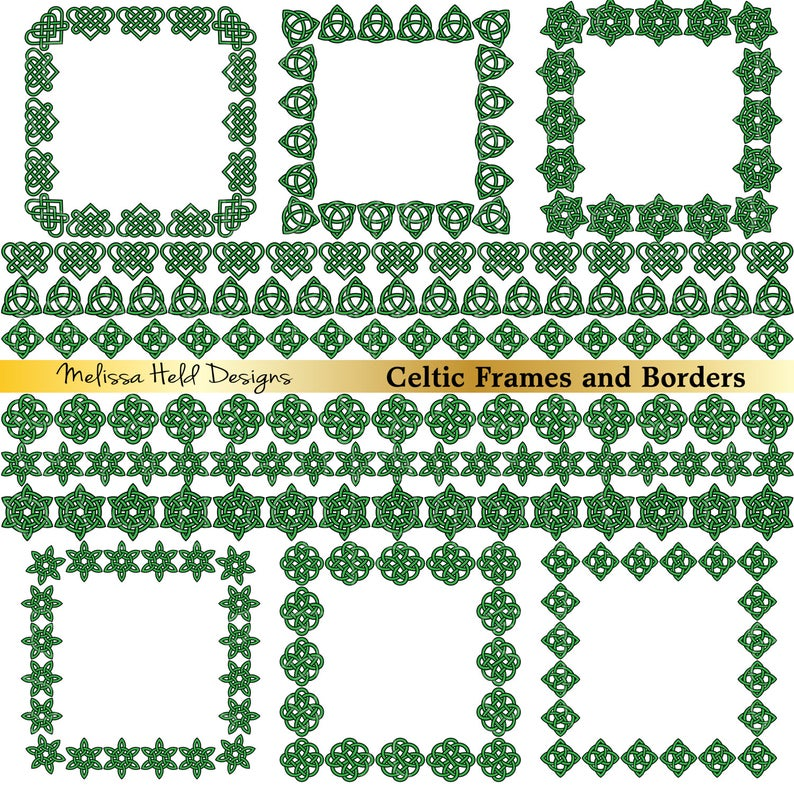 Celtic Frames and Borders Clipart.