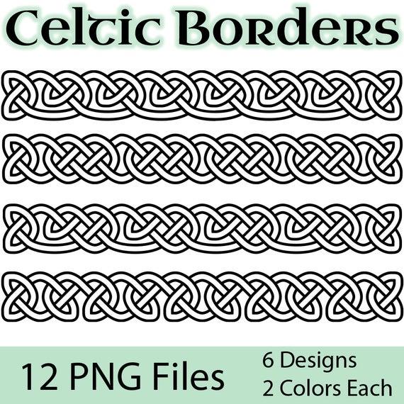 Celtic Borders Clip Art: Transparent, High.