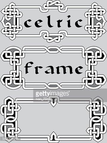 Set Celtic Frame AN Element of Design premium clipart.
