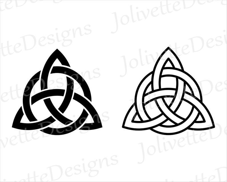 Trinity, Celtic Knot, Triquetra, Clip Art, Clipart, Design, Svg Files, Png  Files, Eps, Dxf, Pdf Files, Silhouette, Cricut, Cut File.