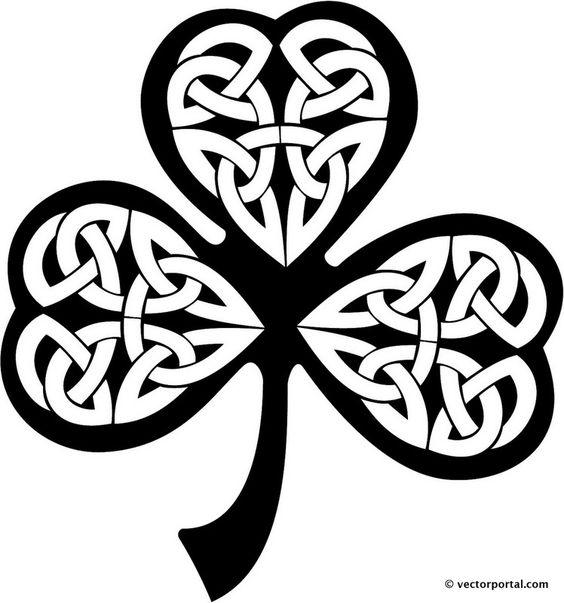 Celtic knot clipart pin celtic knot corners vinyl ready vector.