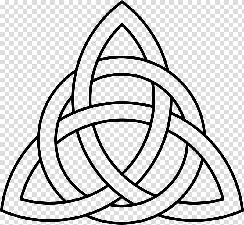 Black triquetra logo illustration, Celtic knot Triquetra Celts.