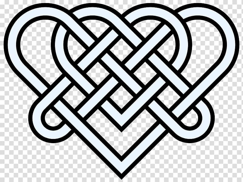 Celtic knot Heart Endless knot , Double Hearts transparent.