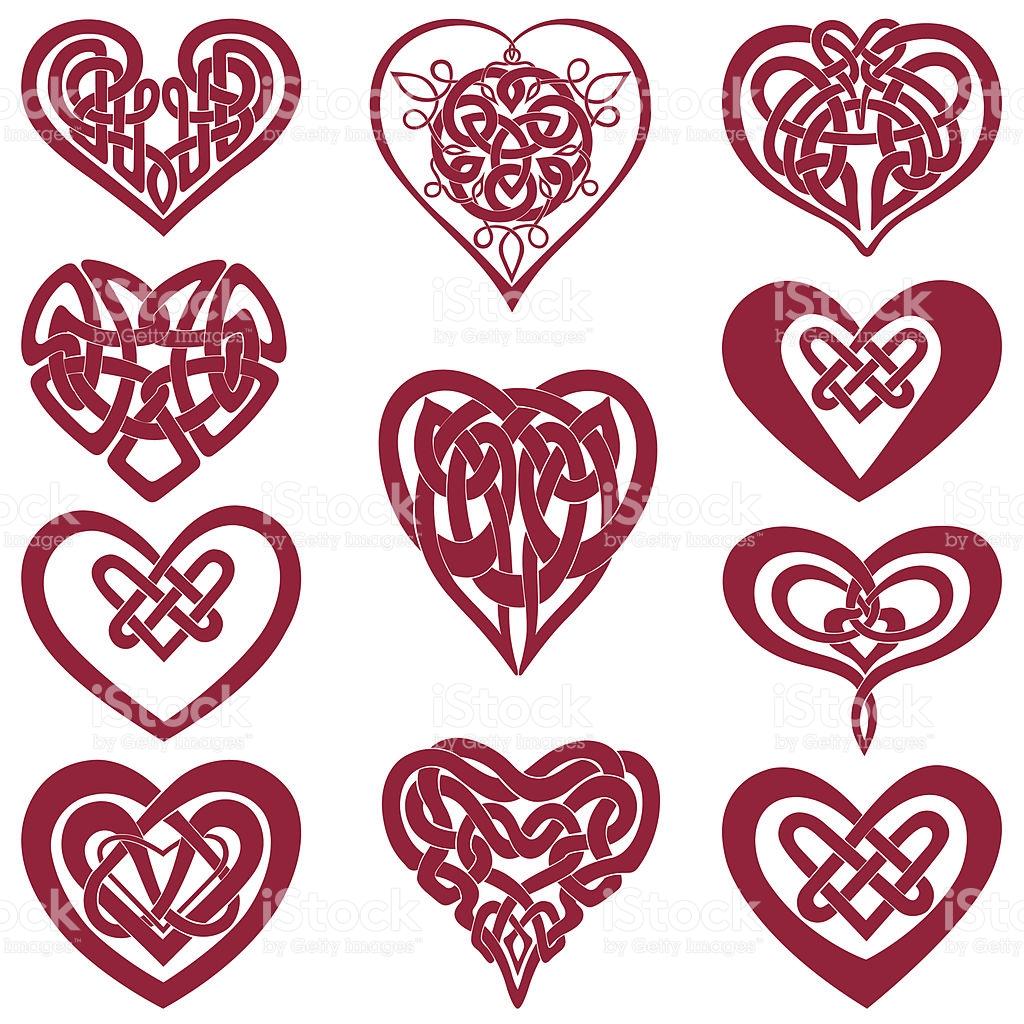 Celtic Knot Hearts stock vector art 165739227.