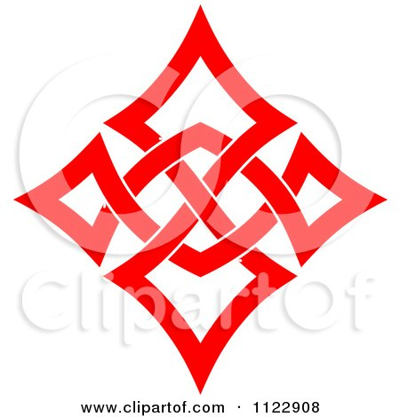 Clipart of a Green Celtic Knot Rule Border Design Element 10.