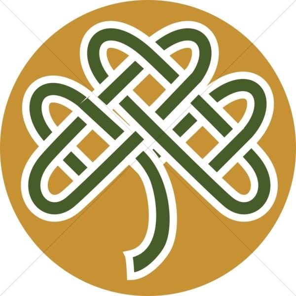 Colored Celtic Knot Shamrock.