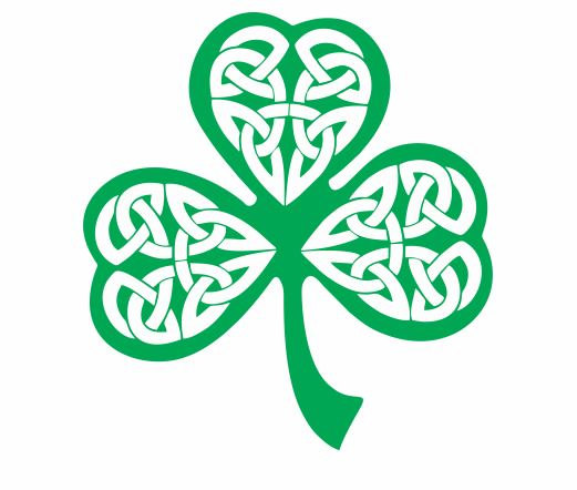 Three Leaf Clover With Celtic Knot Vinyl Decal, Clover Decal, Celtic.