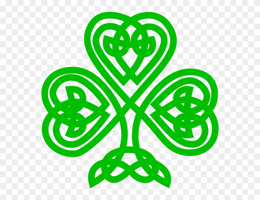 Celtic Knot Shamrock Clipart.
