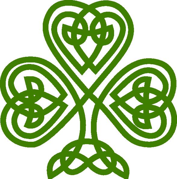 Irish Celtic Clover Art.